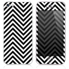 The Sharp Black & White Sharp Chevron Skin for the iPhone 3, 4-4s, 5-5s or 5c