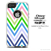 The Sharp Fun Colored Chevron Pattern Skin For The iPhone 4-4s or 5-5s Otterbox Commuter Case