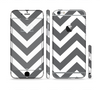 The Sharp Gray & White Chevron Pattern Sectioned Skin Series for the Apple iPhone 6 Plus