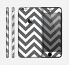 The Sharp Gray & White Chevron Pattern Skin for the Apple iPhone 6