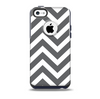 The Sharp Gray & White Chevron Pattern Skin for the iPhone 5c OtterBox Commuter Case