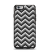 The Sharp Layered Black & Gray Chevron Pattern Apple iPhone 6 Otterbox Symmetry Case Skin Set