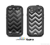 The Sharp Layered Black & Gray Chevron Pattern Skin For The Samsung Galaxy S3 LifeProof Case