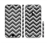 The Sharp Layered Black & Gray Chevron Pattern Sectioned Skin Series for the Apple iPhone 6 Plus