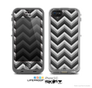 The Sharp Layered Black & Gray Chevron Pattern Skin for the Apple iPhone 5c LifeProof Case