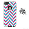 The Sharp Pink & Blue Chevron Pattern Skin For The iPhone 4-4s or 5-5s Otterbox Commuter Case