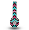 The Sharp Pink & Teal Chevron Pattern Skin for the Beats by Dre Original Solo-Solo HD Headphones
