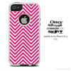 The Sharp Pink & White Chevron Pattern Skin For The iPhone 4-4s or 5-5s Otterbox Commuter Case