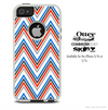 The Sharp Red White & Blue Chevron Skin For The iPhone 4-4s or 5-5s Otterbox Commuter Case