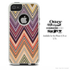 The Vintage Colored V3 Chevron Pattern Skin For The iPhone 4-4s or 5-5s Otterbox Commuter Case