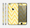 The Sharp Vintage Yellow Chevron Skin for the Apple iPhone 6