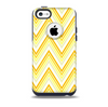 The Sharp Vintage Yellow Chevron Skin for the iPhone 5c OtterBox Commuter Case