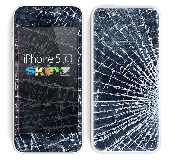 The Shattered Glass Skin for the Apple iPhone 5c