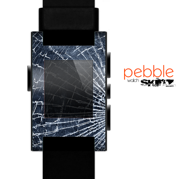 The Shattered Glass Skin for the Pebble SmartWatch