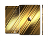 The Shimmering Slanted Gold Texture Full Body Skin Set for the Apple iPad Mini 3
