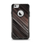 The Shiny Brown Highlighted Line-Surface Apple iPhone 6 Otterbox Commuter Case Skin Set