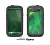 The Shiny Vector Green Crystals Skin For The Samsung Galaxy S3 LifeProof Case
