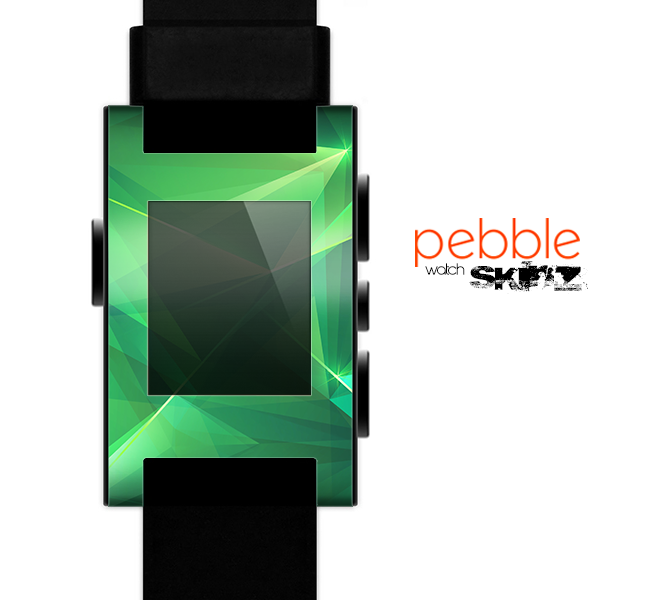 The Shiny Vector Green Crystals Skin for the Pebble SmartWatch