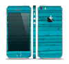 The Signature Blue Wood Planks Skin Set for the Apple iPhone 5s