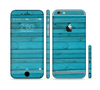 The Signature Blue Wood Planks Sectioned Skin Series for the Apple iPhone 6
