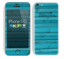 The Signature Blue Wood Planks Skin for the Apple iPhone 5c