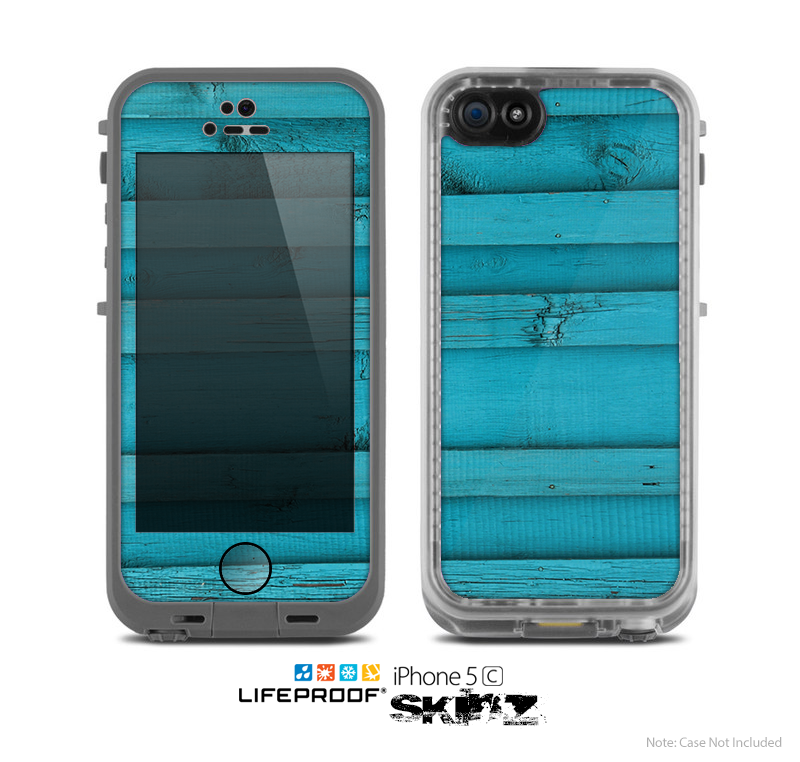 The Signature Blue Wood Planks Skin for the Apple iPhone 5c LifeProof Case