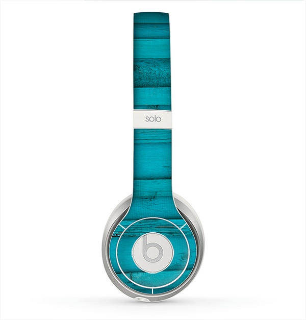 The Signature Blue Wood Planks Skin for the Beats by Dre Solo 2 Headphones
