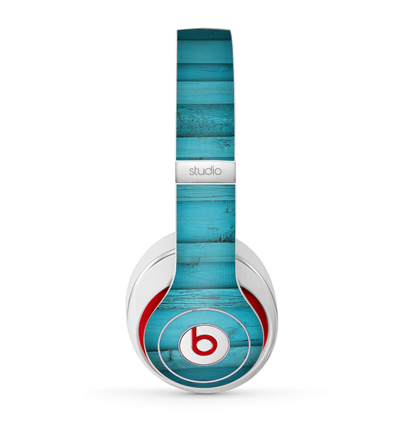The Signature Blue Wood Planks Skin for the Beats by Dre Studio (2013+ Version) Headphones