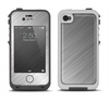 The Silver Brushed Aluminum Surface Apple iPhone 4-4s LifeProof Fre Case Skin Set