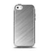 The Silver Brushed Aluminum Surface Apple iPhone 5c Otterbox Symmetry Case Skin Set