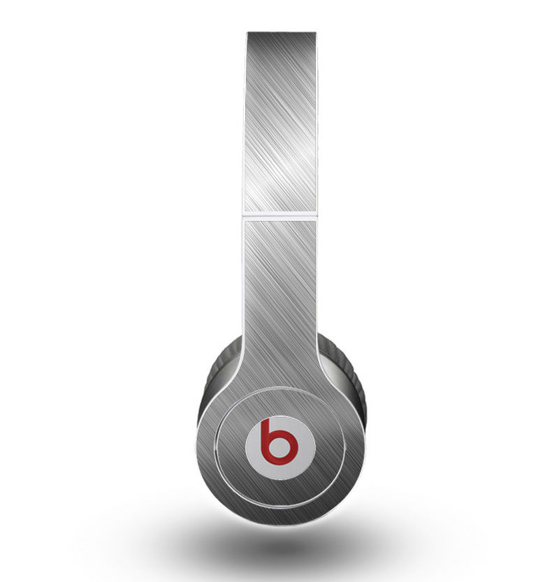 The Silver Brushed Aluminum Surface Skin for the Beats by Dre Original Solo-Solo HD Headphones