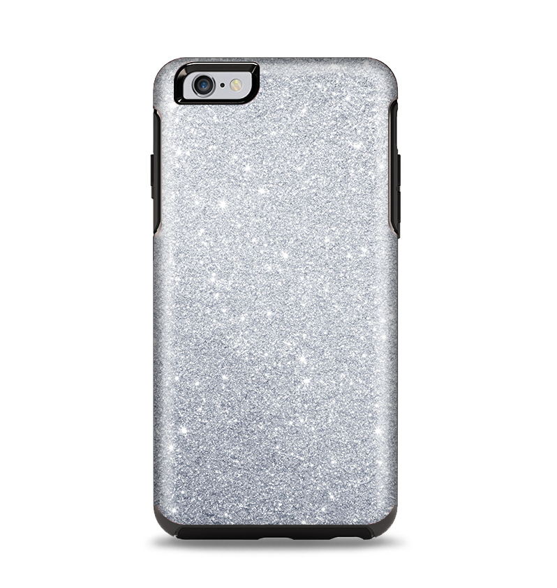 san francisco 293f7 118e9 The Silver Sparkly Glitter Ultra Metallic Apple iPhone 6 Plus Otterbox  Symmetry Case Skin Set