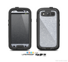 The Silver Sparkly Glitter Ultra Metallic Skin For The Samsung Galaxy S3 LifeProof Case