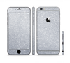 The Silver Sparkly Glitter Ultra Metallic Sectioned Skin Series for the Apple iPhone 6