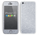 The Silver Sparkly Glitter Ultra Metallic Skin for the Apple iPhone 5c