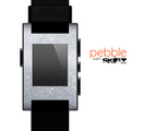 The Silver Sparkly Glitter Ultra Metallic Skin for the Pebble SmartWatch