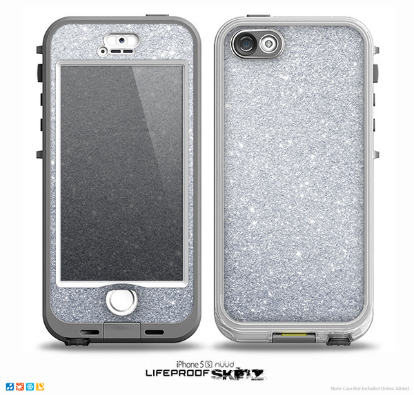The silver sparkly glitter ultra metallic skin for the iphone 5 5s nuu