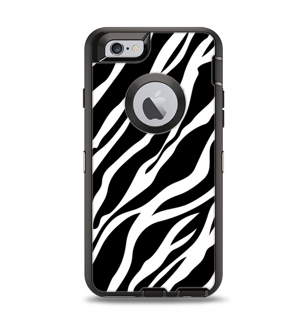 The Simple Vector Zebra Animal Print Apple iPhone 6 Otterbox Defender Case Skin Set