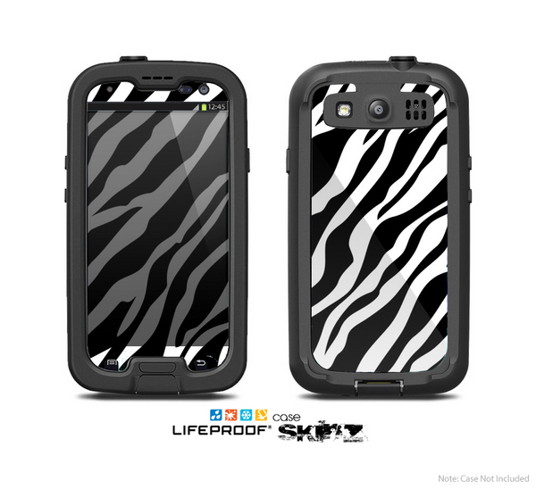 The Simple Vector Zebra Animal Print Skin For The Samsung Galaxy S3 LifeProof Case