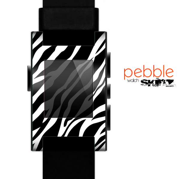 The Simple Vector Zebra Animal Print Skin for the Pebble SmartWatch