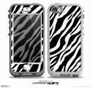 The Simple Vector Zebra Animal Print Skin for the iPhone 5-5s NUUD LifeProof Case for the LifeProof Skin
