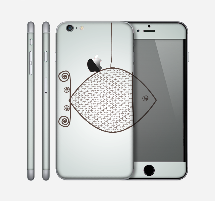 The Simple Vintage Fish on String Skin for the Apple iPhone 6 Plus