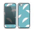 The Simple White Feathered Blue Skin Set for the iPhone 5-5s Skech Glow Case