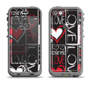 The Sketch Love Heart Collage Apple iPhone 5c LifeProof Nuud Case Skin Set