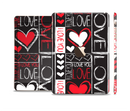 The Sketch Love Heart Collage Full Body Skin Set for the Apple iPad Mini 3