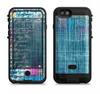 the sketched blue word surface  iPhone 6/6s Plus LifeProof Fre POWER Case Skin Kit