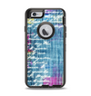 The Sketched Blue Word Surface Apple iPhone 6 Otterbox Defender Case Skin Set