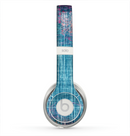 The Sketched Blue Word Surface Skin for the Beats by Dre Solo 2 Headphones