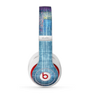 The Sketched Blue Word Surface Skin for the Beats by Dre Studio (2013+ Version) Headphones