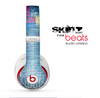 The Sketched Blue Word Surface Skin for the Beats by Dre Studio Wireless Headphones